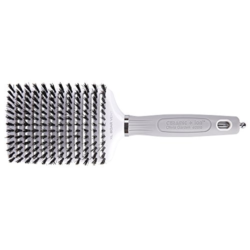 (Olivia Garden Ceramic + Ion XL Boar Vent - Extra Large Pneumatic Paddle Vented Hair Brush - Anti-Static, Tourmaline-Ion & 100% Boar Bristles)