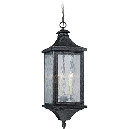 Athenian Collection - Outdoor Pendant 3 Light Fixtures with Athenian Bronze Finish Steel Material Candelabra 10