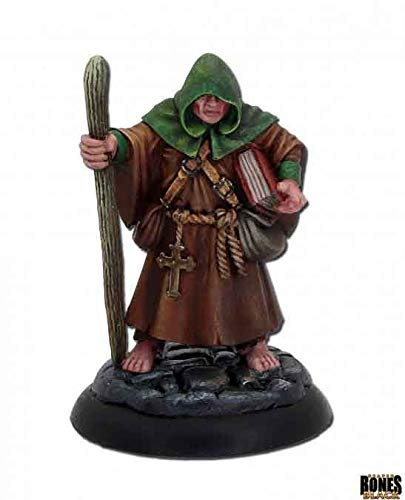 Reaper Miniatures Brother Hammond Monk #44007 Bones Black Plastic D&D RPG Mini