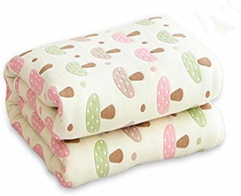 Doble espesor Delgada de algodón puro de mantas, edredones toallas son twin doble manta de algodón fue envuelta en una toalla y ropa de cama ,200x240cm, champiñones pequeños: Amazon.es: Hogar