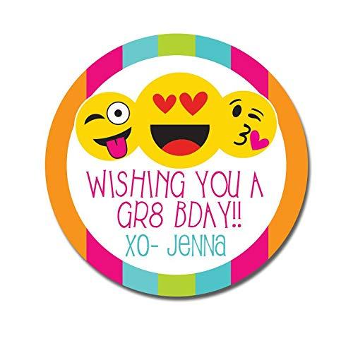 Birthday Stickers Happy Birthday Present Tags Emoji Birthday Emoticon Birthday Gift Tags