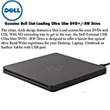 Dell USB DVD/ CD Tray Loading Drive Ultra Slim +/-RW Portable External , Plug & Play DVD/CD RW Rom Drive Writer Burner for Dell, HP, Microsoft, Lenovo, Acer Laptops Desktops Ultrabooks
