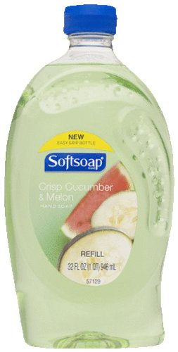 Softsoap Liquid Hand Soap Refill, Cucumber and Melon - 32 fluid ounce (2 Pack)