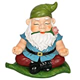 CCOQUS Zen Garden Gnome Statue,Yoga Gnome Figurine – Outdoor Lawn Patio Fairy Garden Decor (Green)