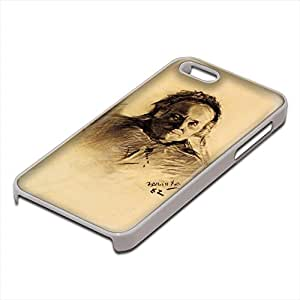 Toulouse Lautrec - Countess Raymond De Toulouse Lautrec, Custom Design Blanco PC Ultradelgado Caso Duro Carcasa Funda Protección Tapa Hard Case Cover con Diseño Colorido para Apple iPhone 5 5S.
