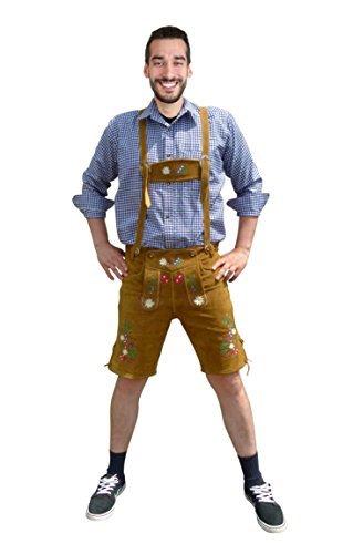 Dirndl World Mens Shirt for Lederhose, traditional Bavarian Shirt, Oktoberfest Outfit, Size: XXL, Oms02