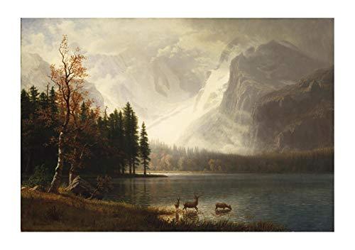 Spiffing Prints Albert Bierstadt - Estes Park Colorado Whytes Lake - Medium - Semi Gloss - ()