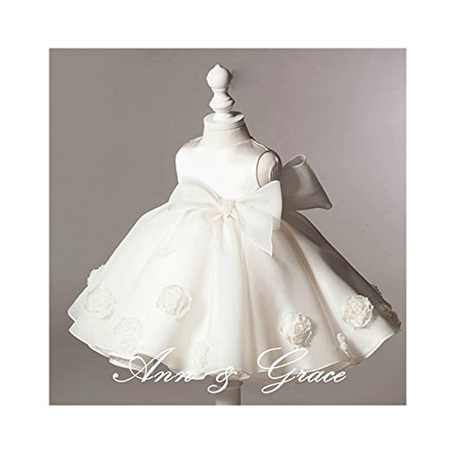 Off White High End Puff Flower Girl Dress, Christening First Communio Baptism