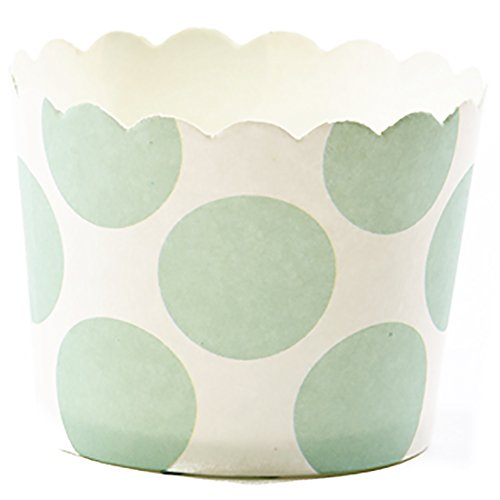 - Simply Baked Small Paper Baking Cup White with Julep Dot 250-Pack Disposable and Oven-safe