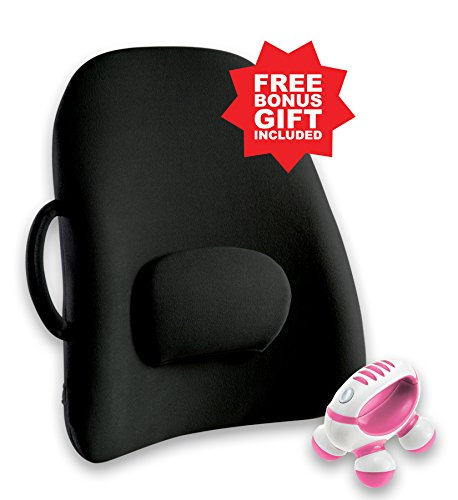 Obus Forme Ergonomic Lowback Backrest Support & FREE GIFT!- Helps Relieve Back Pain- Great for Travel & Home / Office/Car/Seat & Wheelchair- Adj Lumbar Cushion- Sciatica Relief- Portable & Comfortable