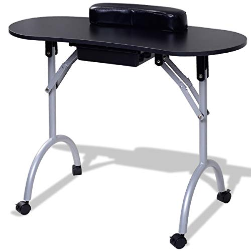 MRT SUPPLY Portable Manicure Nail Table Station Spa Equipment with Ebook