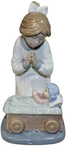 Lladro Nao Collectible Porcelain Figurine Please, Please – 8 1 2 Tall – Girl Praying