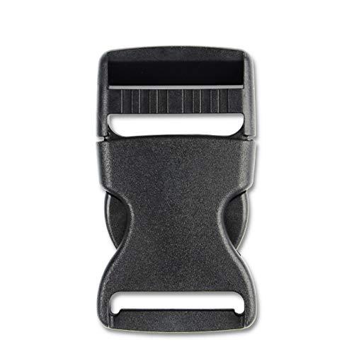 Adjustable 1.5(38mm) Side Release Buckles (4PCS, Black)