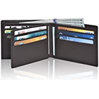 Clifton Heritage RFID Bifold Leather Wallets for Men - Handmade Blocking Genuine Leather Slim Front Pocket Men's Wallet with ID Window