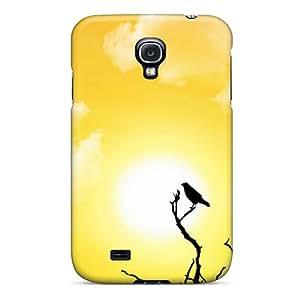 Hot Tpu Cover Case For Galaxy/ S4 Case Cover Skin - Sun Bird