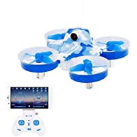 ALLCACA Mini RC Quadcopter 0.3MP Wifi Camera Drone 2.4GHz Remote Control Drone with Real Time Transmission and Altitude Hold Mode