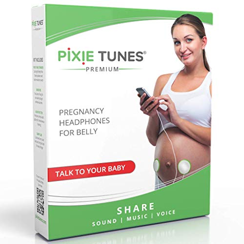 Best Review Of Pixie Tunes Premium High-Fidelity Baby Bump Speaker System to Play Sound, Music and T...
