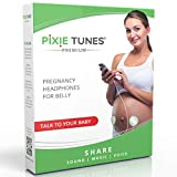 Pixie Tunes Premium High-Fidelity Baby Bump Speaker System to Play Sound, Music and Talk to Your Baby in The Womb; Compatible with Any Mobile Phone, Tablet and Portable Audio Device