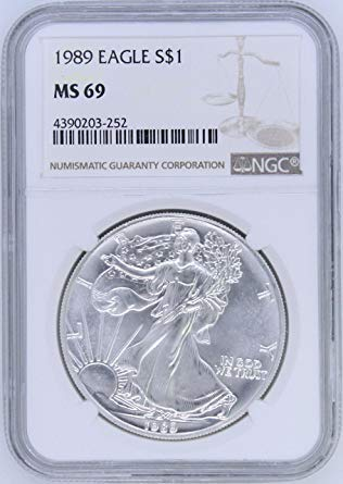 - 1989 American Silver Eagle $1 MS69 NGC