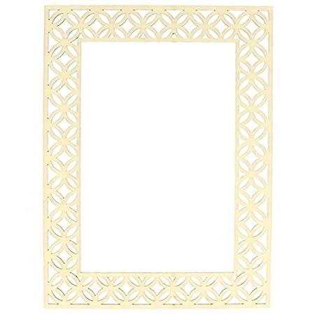 Artemio Wooden picture frame 16 x 21 cm - openwork outline: Amazon ...