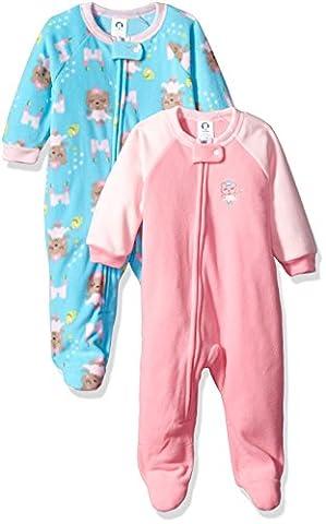 Gerber Toddler Girls 2 Pack Blanket Sleeper, princess ballet, 3T - Girls Pink Sleeper