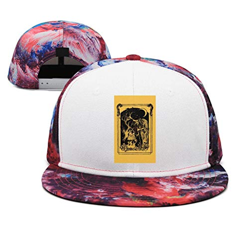 Pink Walpurgis Night Witch Art Poster Unisex Casual Cotton Flat Cap Fitted Hip Hop Snapback Hats