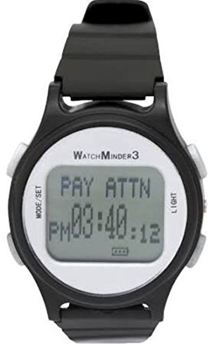 WatchMinder3 - Vibrating Reminder Watch (Black)