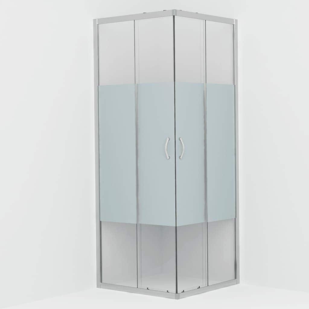 vidaXL Cabine de Douche Rectangulaire avec Porte Coulissante Salle dEau Salle de Bain Int/érieur Maison Verre de S/écurit/é 80x80x185 cm