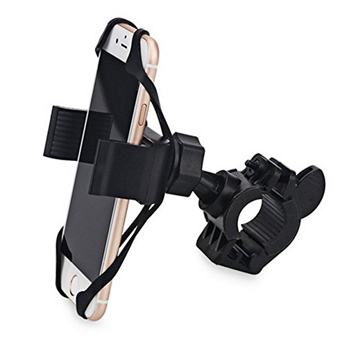 ke Phone Mount for Bicycle - Bike Handlebars, with Adjustable Silicone Support, Holds Phones Up to 3.5