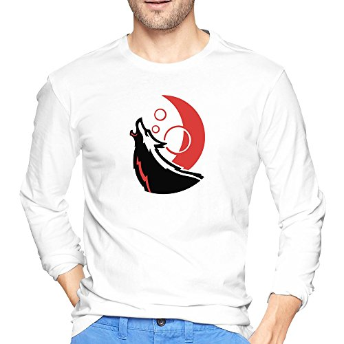 Man NC State Wolfpack Power Mascot Logo T-shirt Long-Sleeve ()