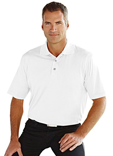 Golf Jacquard Textured - Tri-Mountain Gold 6 oz. 100% Polyester Textured Jacquard Golf Shirt