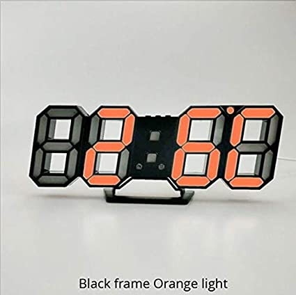 Amazon.com: Wall Clock 3D LED Modern Design Digital Table Clock Alarm Nightlight Saat reloj de pared Watch for Home Living Room Decoration: Home & Kitchen