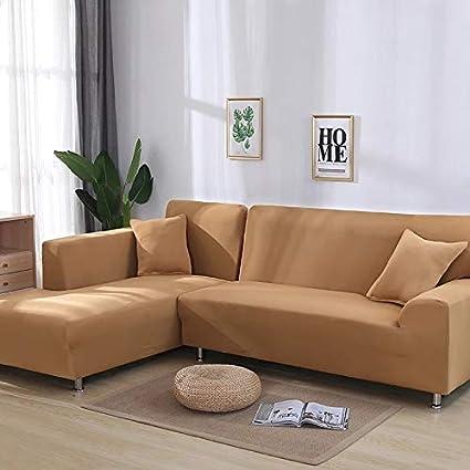 X-BaoFu, - Funda elástica para sofá en Forma de L, para ...