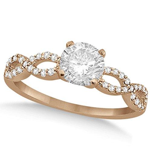 Women's Preset Twisted Infinity Diamond Engagement Ring 14k Rose Gold (1.00ct) ()