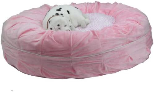 Teafco Otto Pet Bed with Heat Relief Padding, Pink, Round