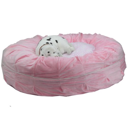 (Teafco Otto Pet Bed with Heat Relief Padding, Pink,)