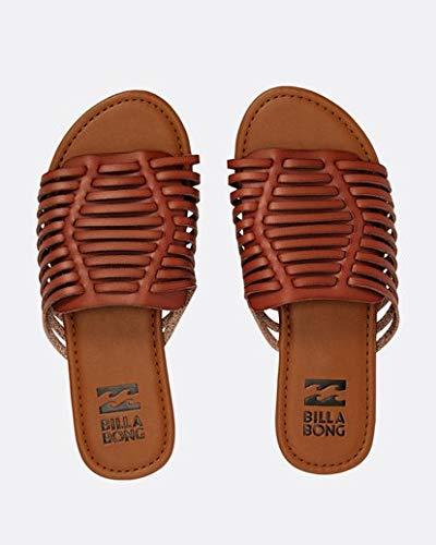 Billabong Women's Tread Lightly Flat Sandal, Desert Brown, 7 M US