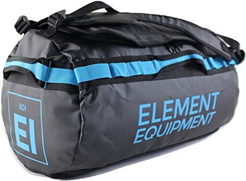 Element Equipment Trailhead Duffel Bag Shoulder Straps Waterproof Black Blue Small
