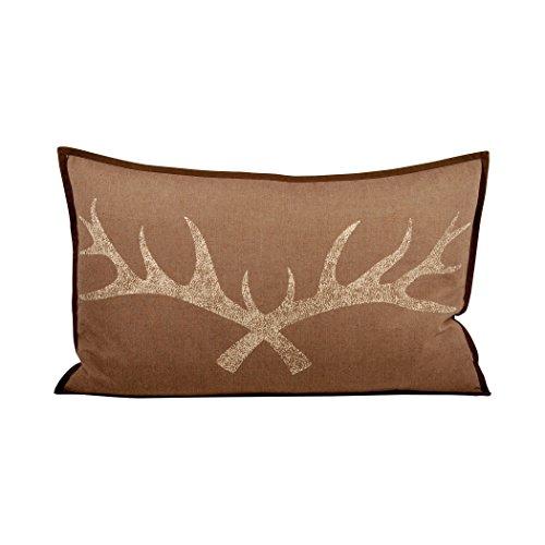 Traditional Décor Collection Antler 26x16 Lumbar Pillow - Pillow Mason Collection