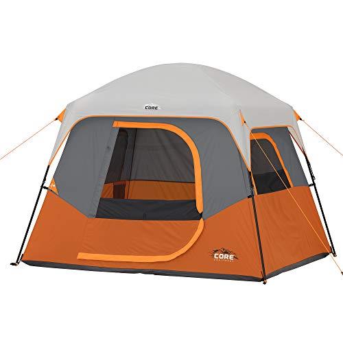 CORE 4 Person Straight Wall Cabin Tent 8 x 7