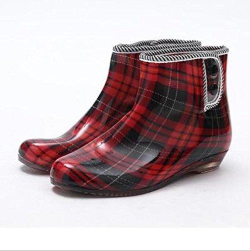 QQnvYUXUE JAXIE Spring and autumn jelly rain boots/ladies short boots/garden slip shoes/shoes 7 qZgQx7p7jy