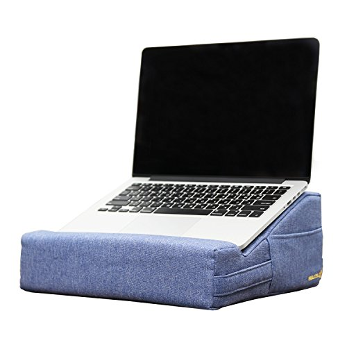 Settee Bed (LECUBE Lap Desk Cushion Laptop Pillow Stand for Bed Sofa (BLUE))