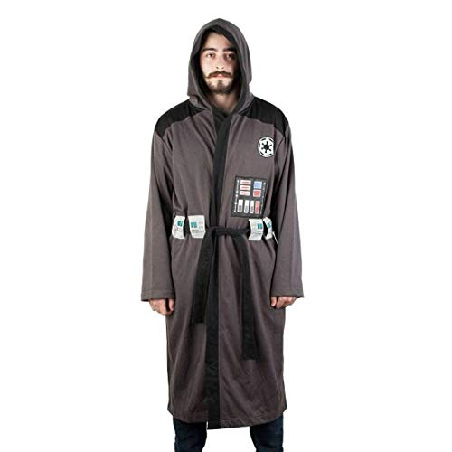 Star Wars Darth Vader Adult's Costume Bath Robe,Grey-dark,Large/ XLarge