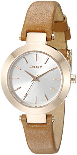 DKNY Women's NY2415 STANHOPE Gold-Tone Stainless Steel Watch with Brown Leather Band