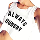 Fudule Tank Top for Women Sexy Camisole Fashion Sleeveless Letter Shirts Summer Camis Crop Tops Blouses Sling Vest White