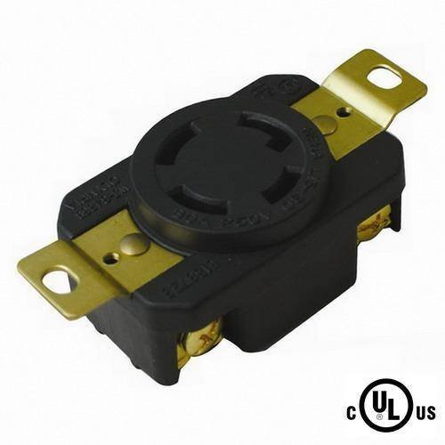 POWERTRONICS CONNECTIONS (TM) NEMA L15-30R Locking Receptacle 250V, 30A by POWERTRONICS CONNECTIONS (TM)