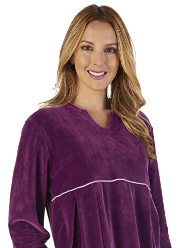 Gown Slenderella GL2792 Robe Robe Velvet Bath Plum Dressing Luxury Loungewear Women's qgXwrUg