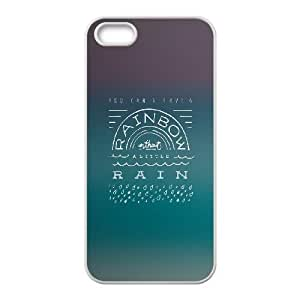 iPhone 4 4s Cell Phone Case White quotes parallax rainbow without the rain 1 SP4179878