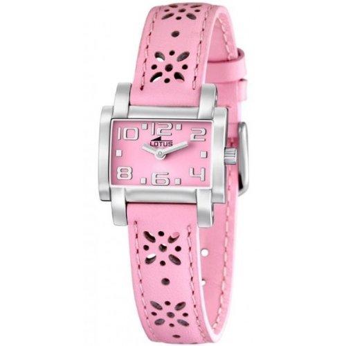 Lotus 15612/2 - Reloj analógico infantil de cuarzo con correa de piel rosa - sumergible a 50 metros: Amazon.es: Relojes