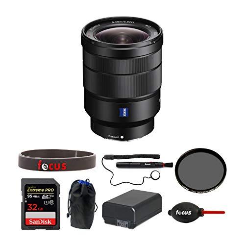 Sony Vario-Tessar T FE 16-35mm f/4 ZA OSS Lens w/Sony 32GB SD Card Bundle